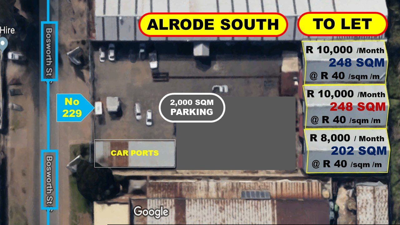 Alberton, Alrode South Property  | Houses To Rent Alrode South, Alrode South, Commercial  property to rent Price:,  8,00*