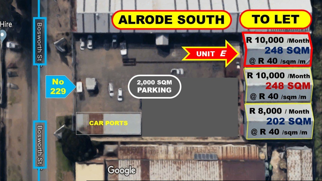 Alberton, Alrode South Property  | Houses To Rent Alrode South, Alrode South, Commercial  property to rent Price:,   ,40*